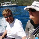 Andy and Melissa on Dinghy 2.JPG
