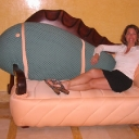 Melissa and Ocean World fish couch.jpg