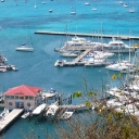 The Town of Marigot-Marigot Bay-and Fort Louis Marina