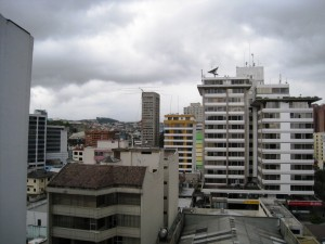 The View From Our Hotel in Quito