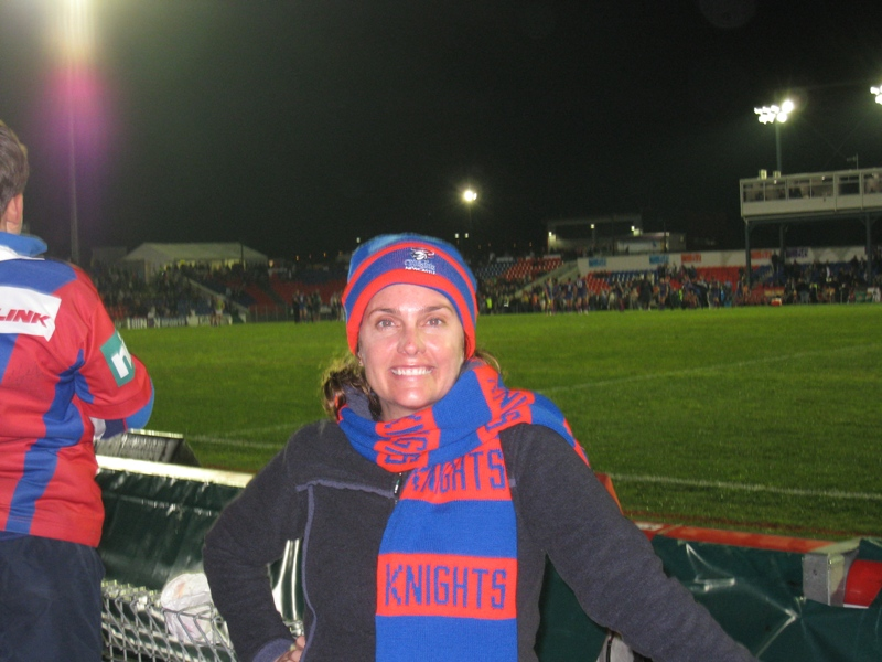 Newcastle Knights Super Fan -- and much warmer rugby league spectator!