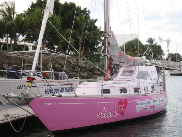 Ella's Pink Lady is a Sparkman and Stephens 34 sailed by Australian 16-year-old Jessica Watson during her solo circumnavigation.