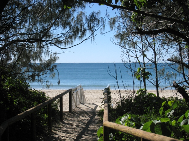 The Beach at Mooloolaba from the Boardwalk